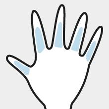 両手の指脱毛